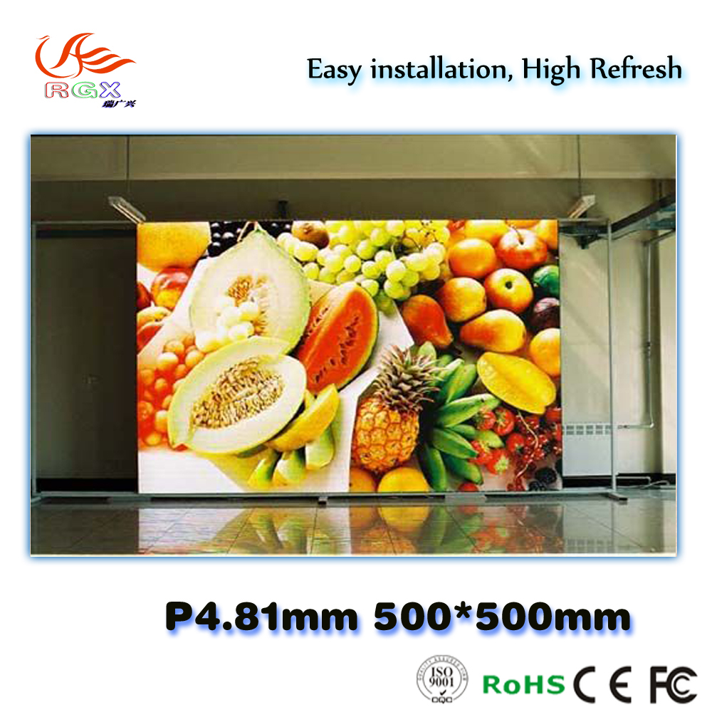 RGX P4.81mm HD indoor SMD hot photos led video display events led screen rental