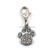 Pawprint-shaped jewelry pendant Charm Pendant for pet/dog collar