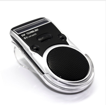 Solar Powered Speakerphone Wireless Bluetooth Handsfree Car Kit For Mobile Phone Dual Phone Connect