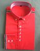 mens latest design button up red dress shirt brand name