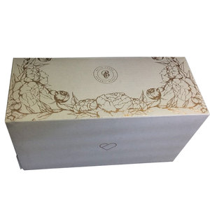 Luxury design full gold stamped tuck top paper packing box for cosmetics series on sale