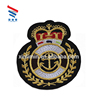 Luxury wholesale custom design factory price african gold embroidery indian army patches for military uniforms