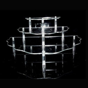 Popular countertop multi-tier perspex/acrylic skin care products display stand retail cosmetic display rack