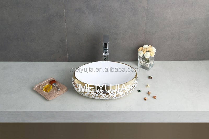 bathroom golden wash hand basin from chaozhou factory