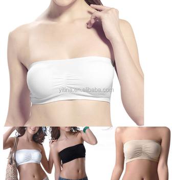 1ee08b3e85b58 Plus size S-XXL ladies Crop Top Bra Boob Tubes Women Comfort Strapless  Padded Bandeau