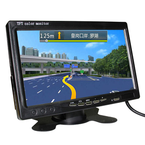 12v Color TFT 7 inch car lcd tv monitor 2av input