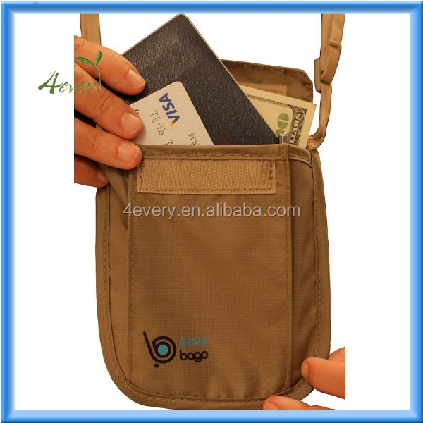 Passport Holder Neck Pouch Stash - 2 In 1 Functionality - Made Of ...