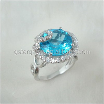 8ct Genuine Blue Topaz Ring Ebay Gold Couple Engagement Ring Set