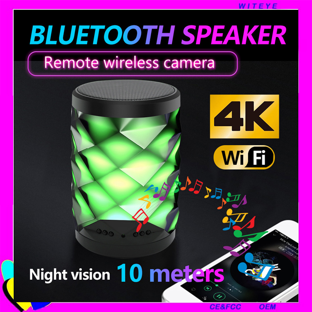 4 K Bluetooth Speaker Wireless Security Camera Live Video Dukungan 128 GB Kamera Speaker