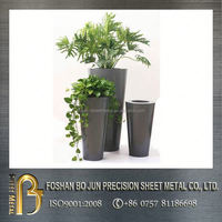 custom agricultural circular tall outdoor indoor metal planter product made in china