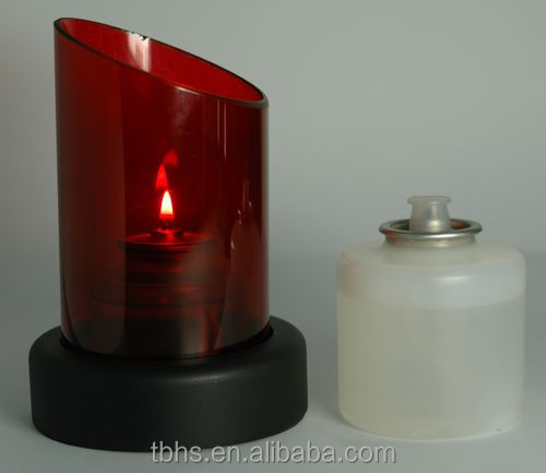 Riva Stainless Steel Base Plastic Bottle Modern Table Oil Lamp