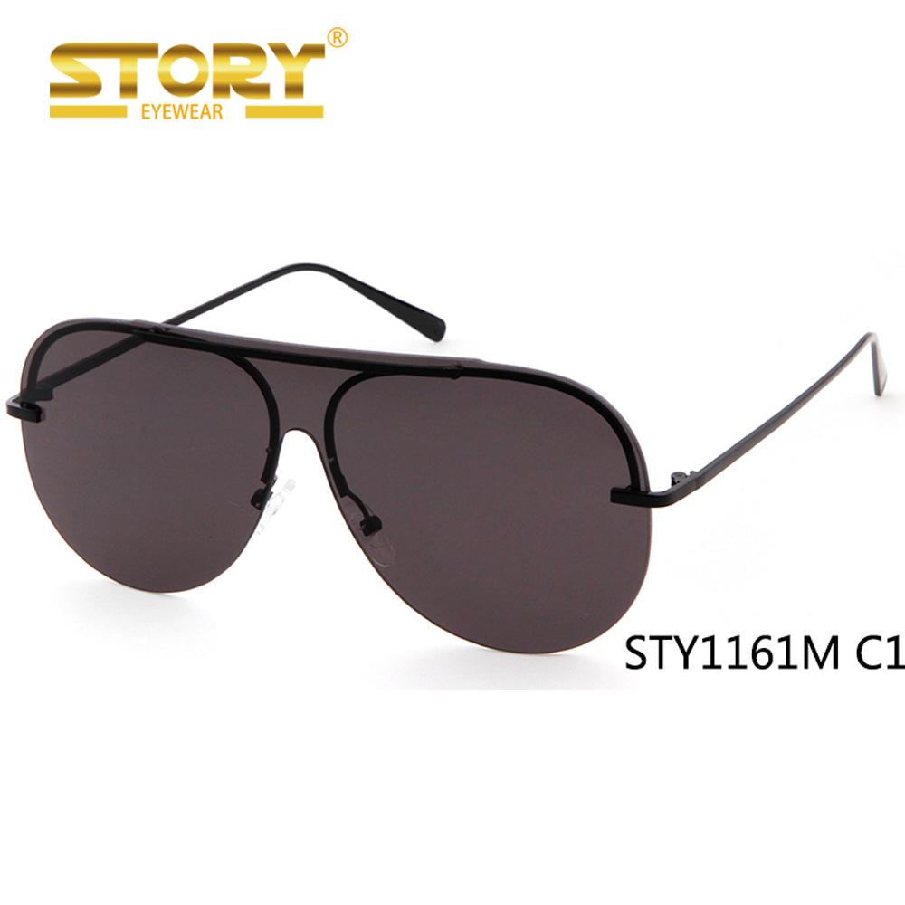 HISTÓRIA New design de moda popular personalizado uv400 uma lente espelho  óculos de sol oceano 7cdb1495bf