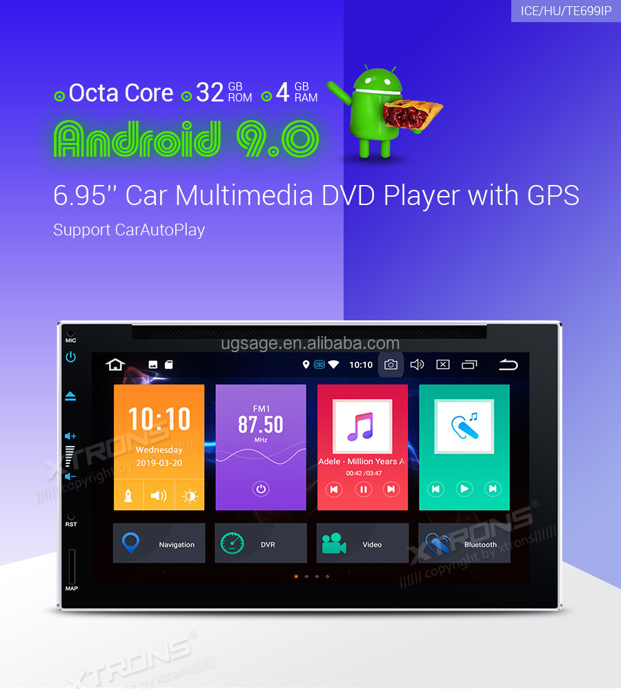 XTRONS 2 din touch screen Android 9 0 car DVD player with gps Bluetooth,  user manual car mp5 player, View touch screen car dvd player, Xtrons  Product