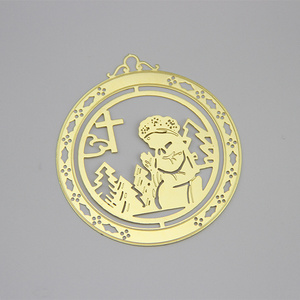 China Factory Promotion Brass Nativity Metal Christmas Tree Ornament