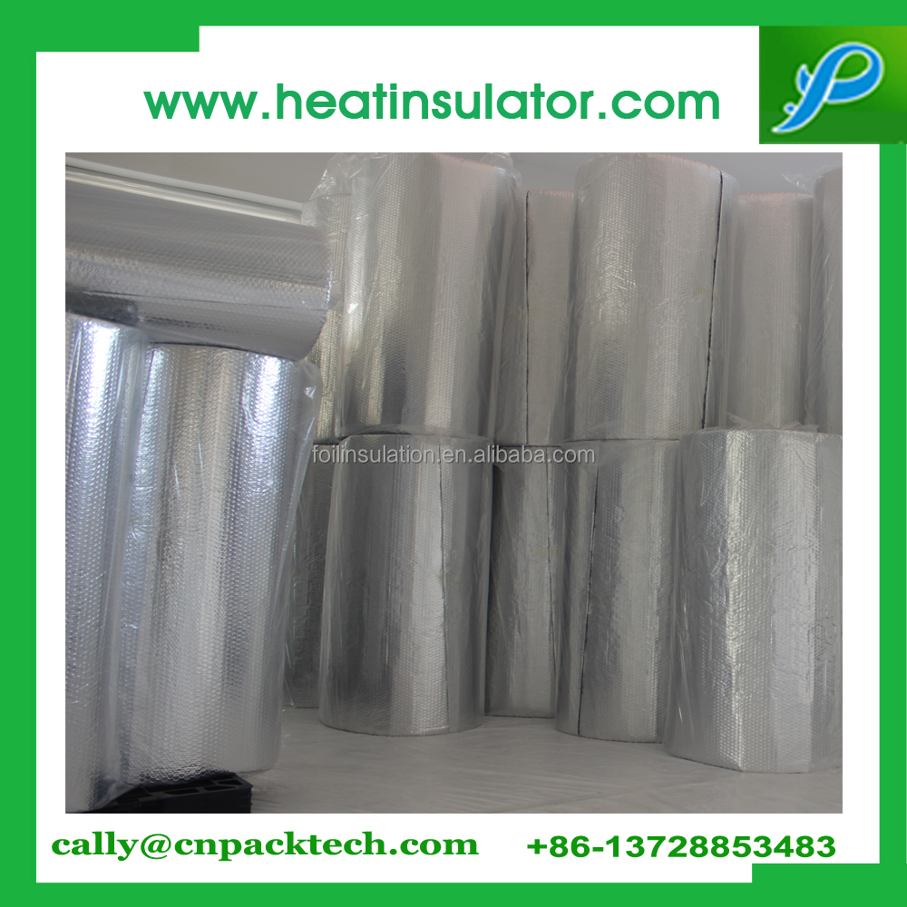 Double sides aluminium foil bubble insulation for building inner installation
