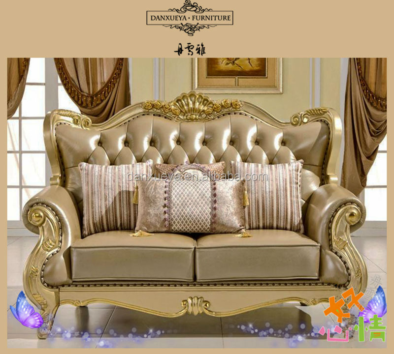 Italian Leather Antique Sofa Royal Furniture Sofa Set