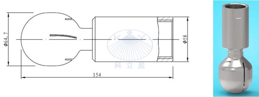 self-rotating spray ball parameter