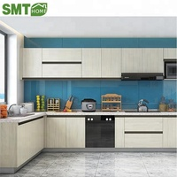New Model white color high gloss pvc vinyl Kitchen Cabinet Door Designs