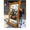 gold leaf decor wall mirror resin frame large ornate gold mirror