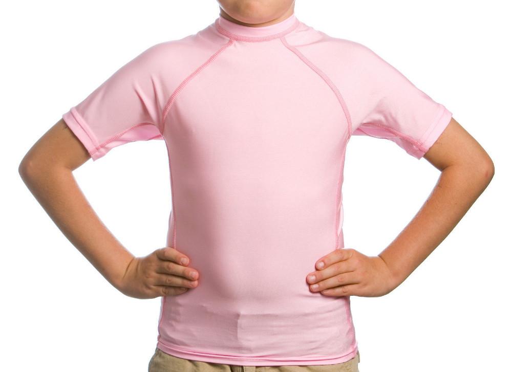 Kid 39 S White Short Sleeve Rash Guard Spf 50 Swim Shirt
