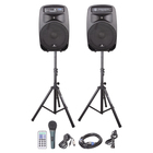 Portable 15-Inch 2-Way Powered PA DJ equipment professional audio mobile Bluetooth Speaker System