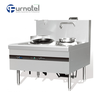 Chinese Single Open Burner Cooker Range Gas Wok Stove Burner with Water Warmer and Faucet