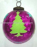 Christmas Glass Hanging Decoration Ornaments