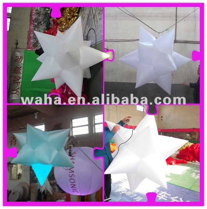 2012 new customized led inflatable star for party decoration