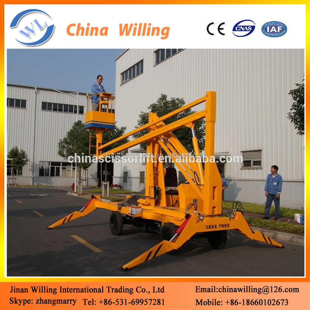 Diesel Articulated Hydraulic Boom Lift Street Light Repair Lift