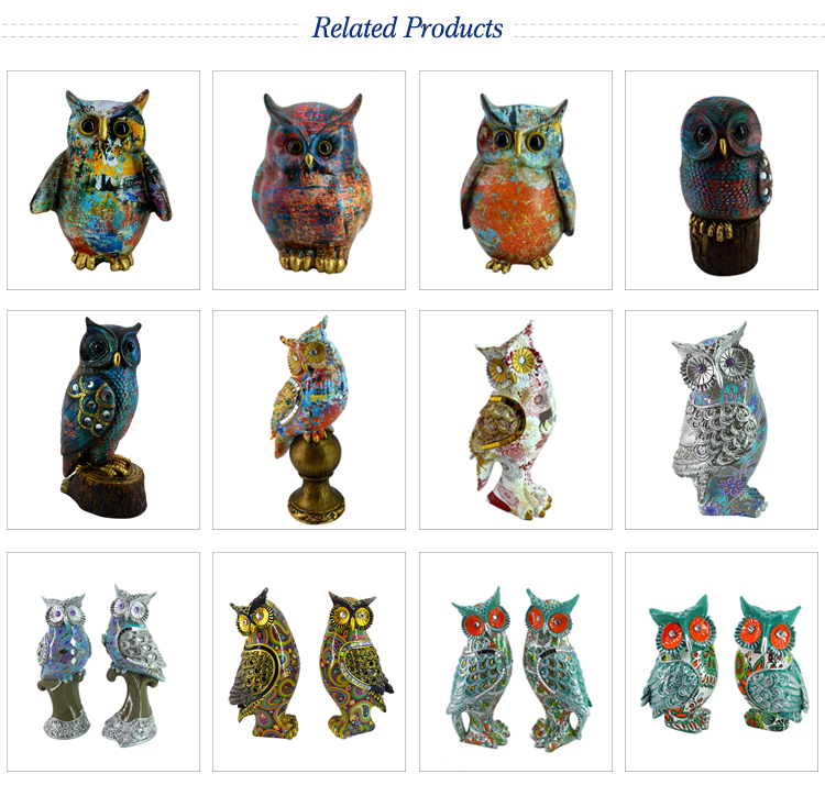 Lifelike Craft Gift Animal Sculpture Resin Owl Figurine