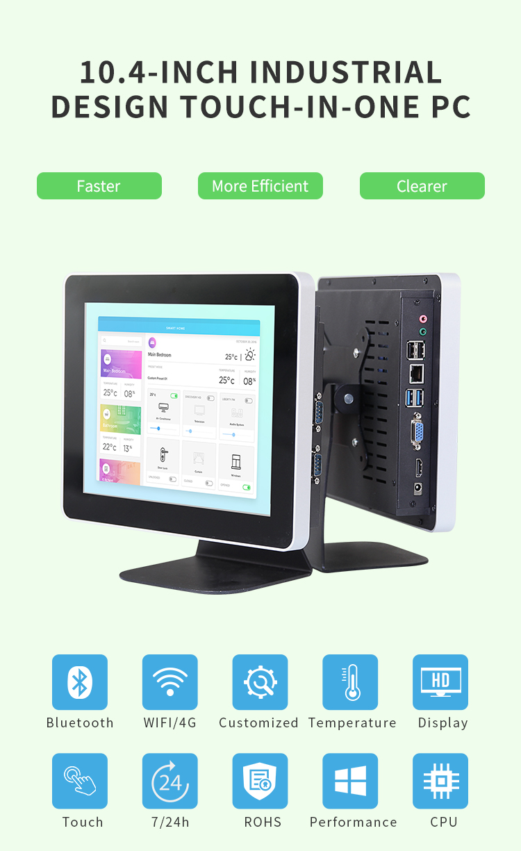 Vesa Standard 10 zoll Win10 industrie panel pc mit LDC touch