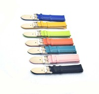 ladies candy colors genuine calfskin leather watch bands strap for women