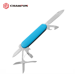 High Quality Fine Blanking Plastic Handle Pocket Swiss Knife