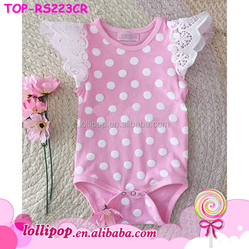 f26af4d7b ... Rompers (51560434). Newborn Baby Girls Cute Pink White Polka Dots  Sewing Pattern Onesie Jumpsuit Toddler Creeper Flutter Sleeve