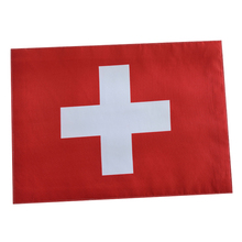 Switzerland Flag Pattern Waterproof Polyester Table Plate Mat