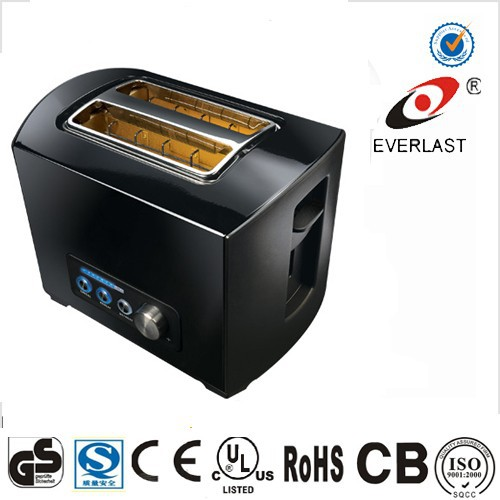2 slice toaster with electronic browning control and detachable crumb tray