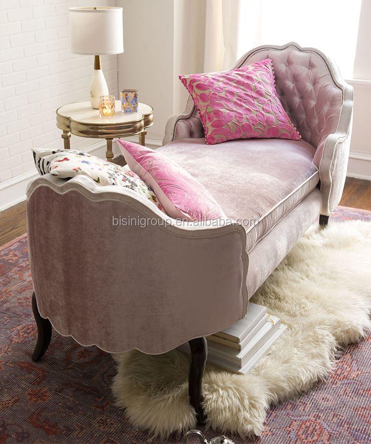 Bisini Amerikanische Luxus Stil Rosa Bench, Holz Und Stoff Wohnzimmer Sofa  Möbel (BF07