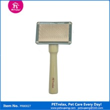 hot new products for 2015 natural wooden handle dog pet brush dog grooming product