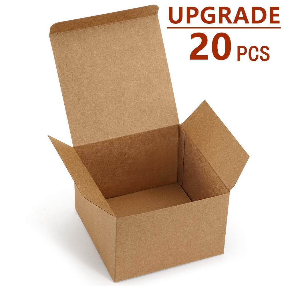 e756f73bf83 Get Quotations · ValBox 20 Pack Brown Gift Boxes 5 x 5 x 3.5 Brown Paper Gift  Boxes with