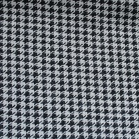 Wool Cotton Jacquard Houndstooth Fabric Wool Suit