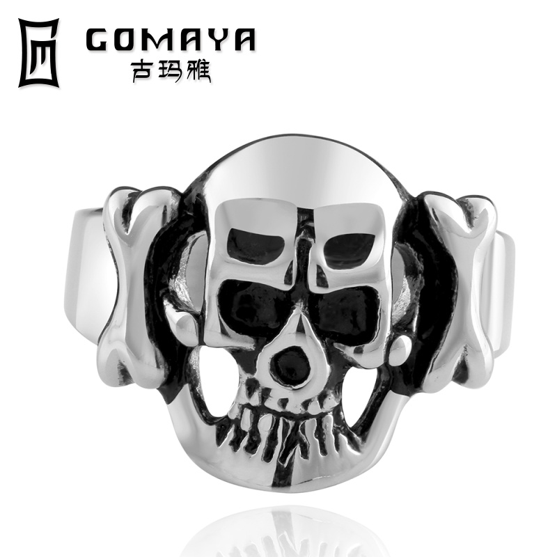 2014 fashion ring skull stainless steel rings jewelry wholesale factory price - GOMAYA