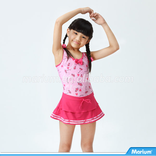 Private Label Manufacturer Kid One Piece Dress Girl Swimwear