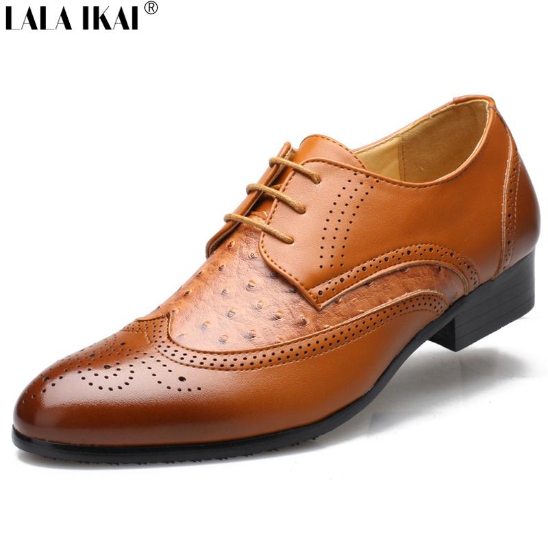 Mens Brown Vegan Dress Shoes