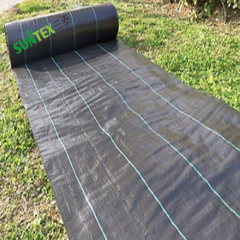 Agro Woven Plastic Polypropylene Weed Fabric 100gsm Black Ground