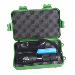2018 T6 long-range zoom flashlight 18650 riot flashlight
