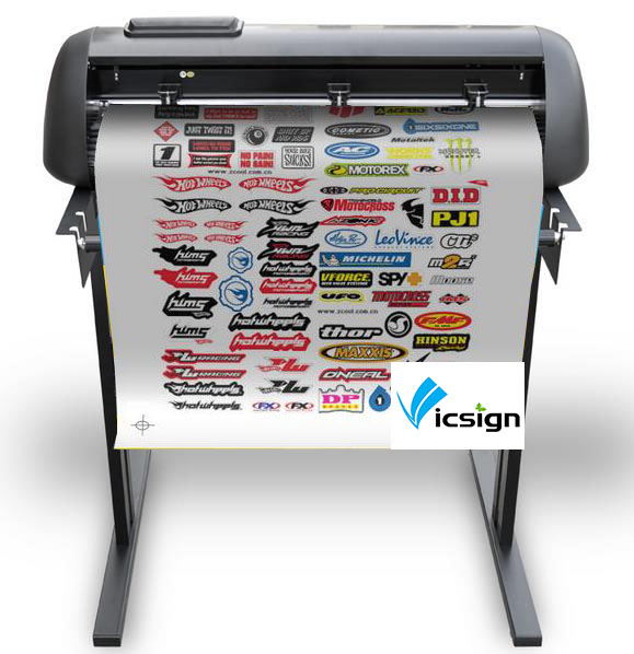 Professional Print And Cut Plotter 630mm Usb Flexisign Software