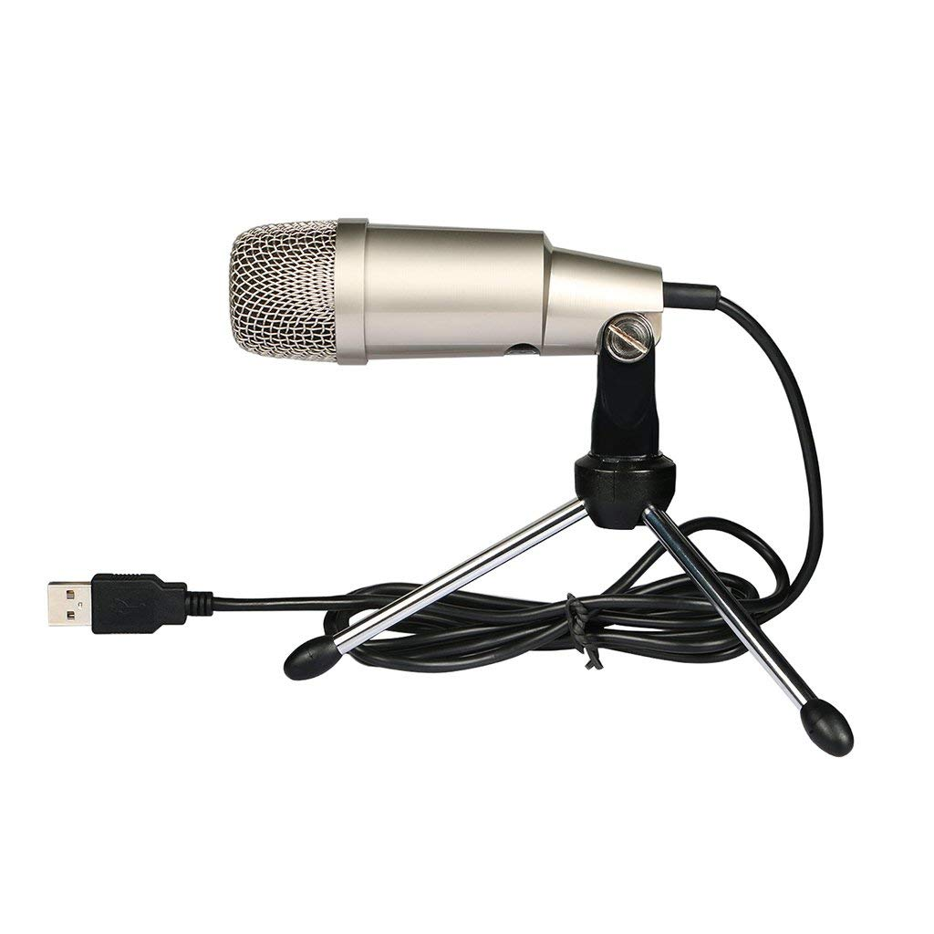Homyl Professional USB Condenser Microphone Plug&Play Home Studio Mic for Audio Recording with Stand