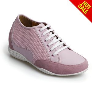 High class women pink purple flat style chang feng sport shoes/made in vietnam shoes/italian matching shoes and bag