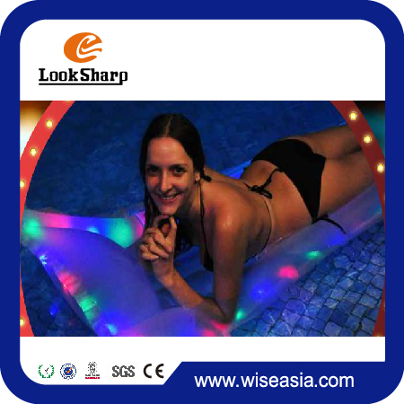 "72""*29""Inflatable Pool Float Light Up Mattress Float lashing Multi-Color LED Beach Pool Beach Fun"