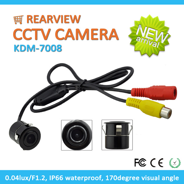 High Quality 170 Degree Wide Angle Hole Car Rearview Camera With Mirror Image Reversing IP66 Waterproo